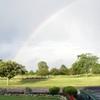 A rainbow view from Deer Creek Golf Club