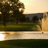 A view of the water fountain at Oak Hollow Golf Course
