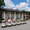 A view of the clubhouse at Oakbrook Golf Course