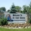A view of the entrance sign at Saint Clair Shores Country Club