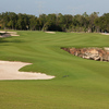 A view of the 7th green protected by bunkers at El Camaleon Mayakoba Golf Club