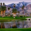A view of green #18 at South Course from Indian Canyons Golf Resort