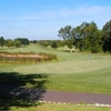 A view of green #9 at Purple Hawk Country Club