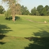 A sunny view of hole #11 at Spencer T. Olin Golf Course