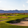 Sun Mountain's 436-yards 6th hole features a heavily bunkered grean