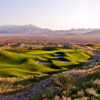 Paiute's Wolf Course: View from 8th hole ( 206 yards, par 3 )