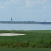 A view of the 6th hole at Bay Course from Bluewater Bay Resort