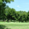 A view of green #2 at San Saba River Golf Course