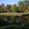 A view of green #11 protected by a pond at Cumberland Golf Club