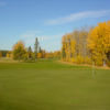 A fall view of a hole at Drayton Valley Golf Club