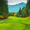 Skamania Lodge #2: Don't be fooled by the yardage on the scorecard. This hole, with Foster Creek lurking in the trees to the left, demands accuracy off the tee. A successful tee shot will reap great rewards and offer a good chance for a birdie.