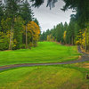 """Skamania Lodge #3: The """"Summit"""" hole. The most demanding par 5 offers no relief until the ball is holed. Uphill all the way, this hole requires three well-hit shots to reach the green, the highest point on the course. Be sure to check the pin placement as"""