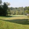 A view of a tee at My Old Kentucky Home State Park Golf Course