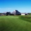 A view of the 18th hole at Lakes Course from Wildcat Golf Club