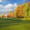 Autumn view of the 12th hole at PrairieView Golf Club