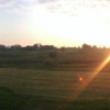 A sunset view of hole #7 at Bulrush Golf Club