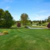 A view of the island green at Grand View Golf Course