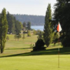 A view of a hole at Swinomish Golf Links