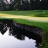 A view of a hole with water coming into play at Pole Creek Golf Club