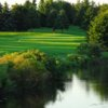 A view over the water of a green at Brookfield Country Club