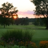 Sunset view of the practice area at Atwood Homestead Golf Course