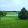 A view of the 18th green at Wetlands Golf Club