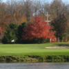 A view over the water of a green at Honeywell Golf Course