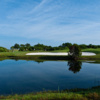 A view over the water from The Habitat Golf Course