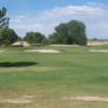 A view of a green surrounded by bunkers at Tierra del Sol Golf Club