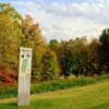 A view of the 4th tee sign at Pebble Brook Golf Course