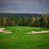 A view of a hole protected by a collection of tricky bunkers at Bell Bay Golf Club