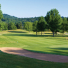 A view of a hole and a fairway at Shawnee State Park Golf Resort