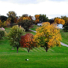 A fall view from the 13th tee at Oakland Acres Golf Club