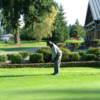 A view from the practice area at Whispering Firs Golf Club