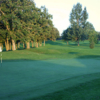A view of the 1st green at Oak from Perham Lakeside Country Club