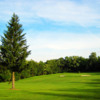 A view of a green at Mount Summit Golf Course