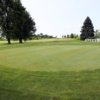 A view of the practice green and tee #1 at Chicago Golf and Tiki Tees