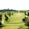 A view of a tee and a fairway at Chicago Golf and Tiki Tees
