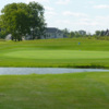 A view of a hole with water and a bunker coming into play at Diamond Course from Jewel of Grand Blanc