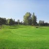 A view of a green protected by bunkers at Port Townsend Golf Club