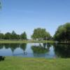 A view over the water from Emerald Lakes Golf Center