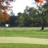 A fall view of a green at Spring Meadow Golf Course