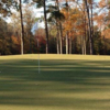 A fall view of a green at Duplin Country Club