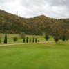 A view of a hole at Sugar Camp Golf Club