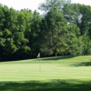 A sunny day view of a green at Reid Memorial Park Golf Course