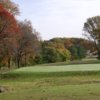 A fall view of a green at Scottsville Country Club