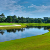 A view over the water from Pointe Golf Club