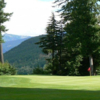 A view of a hole at Revelstoke Golf Club