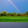 A rainbow view from Colonial Pines Golf Club