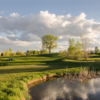 A view of the 1st hole with water coming into play at Stoney Creek Golf Course
